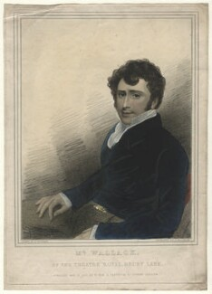 James William Wallack, by Thomas Woolnoth, published by  William Cribb, after  Thomas Charles Wageman - NPG D4615