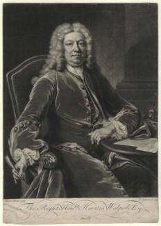 Horatio Walpole, 1st Baron Walpole of Wolterton, by John Simon, after  Jean Baptiste van Loo - NPG D4617