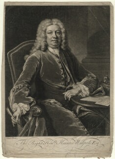 Horatio Walpole, 1st Baron Walpole of Wolterton, by John Simon, after  Jean Baptiste van Loo - NPG D4618