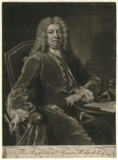 Horatio Walpole, 1st Baron Walpole of Wolterton, by John Simon, after  Jean Baptiste van Loo - NPG D4620