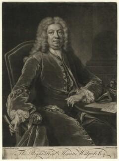 Horatio Walpole, 1st Baron Walpole of Wolterton, by John Simon, after  Jean Baptiste van Loo, 1741 (1739) - NPG D4620 - © National Portrait Gallery, London