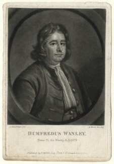 Humphrey Wanley, by Abraham Wivell, after  Thomas Hill - NPG D4623