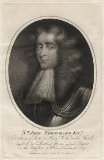 Sir John Trenchard, by and published by Charles (Cantelowe, Cantlo) Bestland - NPG D4632