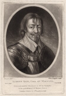 Robert Rich, 2nd Earl of Warwick, by Richard Earlom, after  Sir Anthony van Dyck - NPG D4639