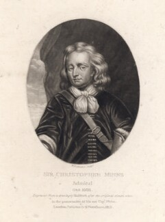 Sir Christopher Myngs, by Robert Dunkarton, after  John Bulfinch - NPG D4655