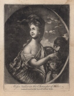 Miss Nailer (Naylor) as Hebe, published by Robert Sayer, after  Robert Edge Pine - NPG D4661