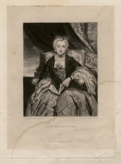 Emma Edgcumbe (née Gilbert), Countess of Mount Edgcumbe, by Samuel William Reynolds, after  Sir Joshua Reynolds - NPG D4674