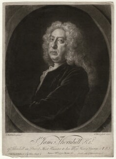 Sir James Thornhill, by John Faber Jr, after  Joseph Highmore - NPG D4688