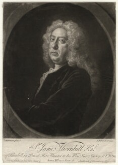 Sir James Thornhill, by John Faber Jr, after  Joseph Highmore - NPG D4689