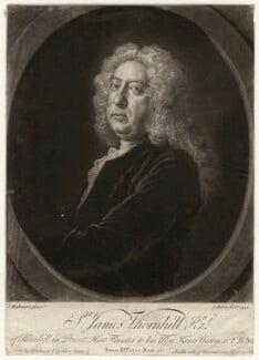 Sir James Thornhill, by John Faber Jr, after  Joseph Highmore - NPG D4689