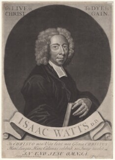 Isaac Watts, by George White, sold by  Edward Dilly, and sold by  Charles Dilly - NPG D4699