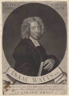 Isaac Watts, by George White, sold by  Edward Dilly, and sold by  Charles Dilly, 1727 - NPG D4700 - © National Portrait Gallery, London