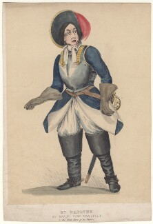 Benjamin Nottingham Webster as Major Hans Mansfelt in 'The White Horse of the Peppers', after Unknown artist - NPG D4715