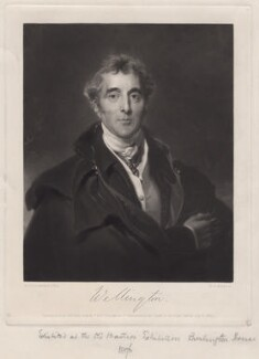 Arthur Wellesley, 1st Duke of Wellington, by William Oakley Burgess, after  Sir Thomas Lawrence - NPG D4725