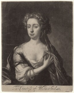 Dorothy Fane (née Brudenell), Countess of Westmorland, by Isaac Beckett, after  John Riley - NPG D4745