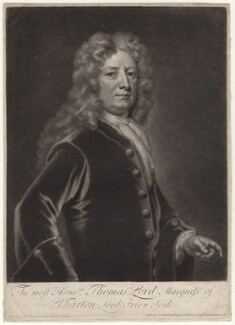 Thomas Wharton, 1st Marquess of Wharton, by and sold by John Smith, after  Sir Godfrey Kneller, Bt - NPG D4762