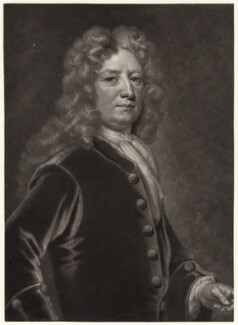 Thomas Wharton, 1st Marquess of Wharton, by John Smith, after  Sir Godfrey Kneller, Bt - NPG D4763