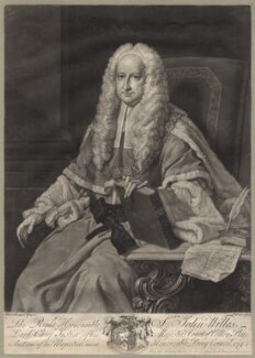 Sir John Willes, by and published by John Faber Jr, after  Thomas Hudson, 1744 - NPG D4813 - © National Portrait Gallery, London