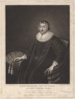 John Williams, by Robert Dunkarton, published by  Edmund Dorrell, after  Cornelius Johnson (Cornelius Janssen van Ceulen) - NPG D4818