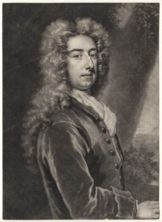 Spencer Compton, Earl of Wilmington, by Peter Pelham, after  Sir Godfrey Kneller, Bt - NPG D4830