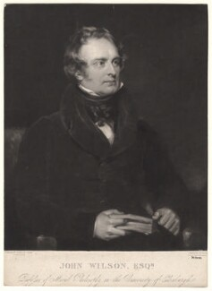 John Wilson, by Henry Edward Dawe, after  Sir John Watson-Gordon - NPG D4839
