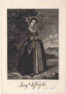 Peg Woffington, after Edward Haytley, late 19th century - NPG D4875 - © National Portrait Gallery, London