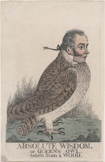 'Absolute wisdom, or Queen's owl. Taken from a wood' (Sir Matthew Wood, 1st Bt), by and published by Richard Dighton, circa 1817-1825 - NPG D4902 - © National Portrait Gallery, London