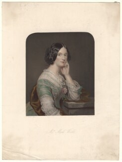 Amelia Jane Wood (née Williams), by William Henry Mote, published by  David Bogue, after  Sir Francis Grant - NPG D4903