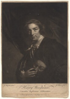 Henry Woodward, by James Watson, sold by  Ryland and Bryer, after  Sir Joshua Reynolds - NPG D4908