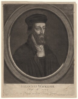 Fictitious portrait called John Wyclif, by and published by John Faber Sr - NPG D4918