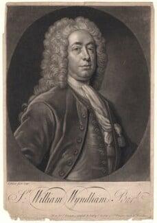 Sir William Wyndham, 3rd Bt, by John Faber Jr, after  Unknown artist - NPG D4942