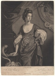 Agneta Yorke (née Johnson), by Valentine Green, after  Francis Cotes - NPG D4962