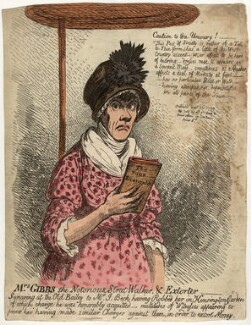 Jane Gibbs ('Mrs Gibbs the notorious street-walker, and extorter'), by James Gillray, published 23 September 1799 - NPG  - © National Portrait Gallery, London