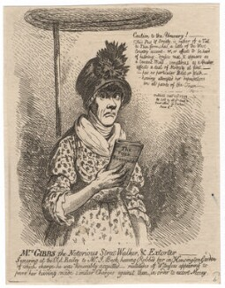 Jane Gibbs ('Mrs Gibbs the notorious street-walker, and extorter'), by James Gillray, published 23 September 1799 - NPG D4968 - © National Portrait Gallery, London