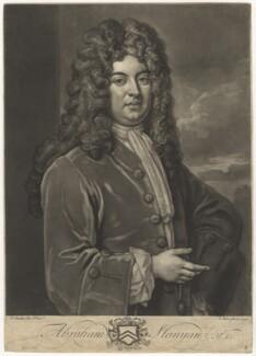 Abraham Stanyan, by John Faber Jr, after  Sir Godfrey Kneller, Bt - NPG D4990