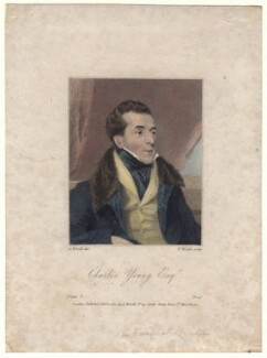 Charles Mayne Young, by Thomas Wright, published by and after  Abraham Wivell - NPG D4992