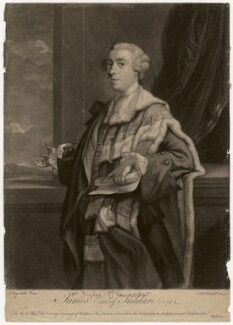 James Fitzgerald, 1st Duke of Leinster when Earl of Kildare, by James Macardell, published by  Michael Ford, after  Sir Joshua Reynolds - NPG D5058