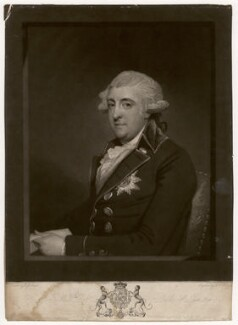 William Robert Fitzgerald, 2nd Duke of Leinster, by Charles Howard Hodges, after  Gilbert Stuart, published 1792 - NPG D5059 - © National Portrait Gallery, London