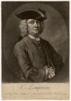 Clement Lemprière, by John Faber Jr, after  Thomas Frye - NPG D5063