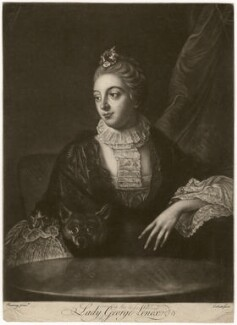 Lady Louisa Lennox (née Kerr), by Richard Purcell (H. Fowler, Charles or Philip Corbutt), after  Allan Ramsay - NPG D5064
