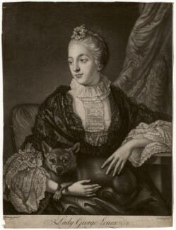 Lady Louisa Lennox (née Kerr), by Richard Purcell (H. Fowler, Charles or Philip Corbutt), after  Allan Ramsay - NPG D5065