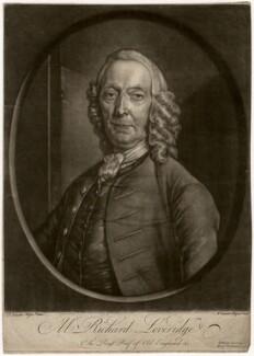 Richard Leveridge, by Andreas van der Mijn, after  Frans van der Mijn (or Myn) - NPG D5069