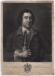 Francis Dashwood, 11th Baron Le Despencer, by John Faber Jr, after  Adrien Carpentiers (Carpentière, Charpentière) - NPG D5031