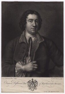 Francis Dashwood, 11th Baron Le Despencer, by John Faber Jr, after  Adrien Carpentiers (Carpentière, Charpentière) - NPG D5032