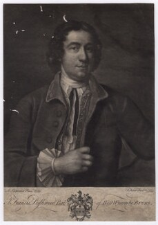Francis Dashwood, 11th Baron Le Despencer, by John Faber Jr, after  Adrien Carpentiers (Carpentière, Charpentière) - NPG D5033