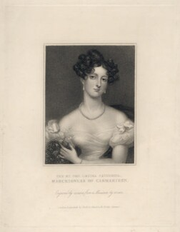 Louisa Catherine Osborne (née Caton), Duchess of Leeds when Marchioness of Carmarthen, by Thomson, published by  Edward Bull, published by  Edward Churton, after  Anne Mee (née Foldsone) - NPG D5045