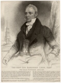 Sir Harcourt Lees, 2nd Bt, by Henry Meyer, published by  Messrs Allens, after  Thomas Clement Thompson - NPG D5047