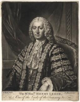 Henry Bilson Legge, by Richard Houston, after  William Hoare - NPG D5048