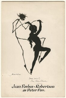 Jean Forbes-Robertson as Peter Pan in 'Peter Pan', by Hubert Leslie - NPG D505