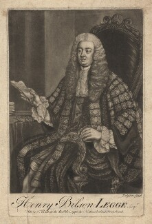 Henry Bilson Legge, by Johson, published by  Thomas Ewart, after  William Hoare - NPG D5050